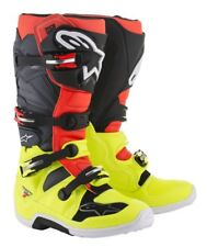 ALPINESTARS  TECH 7 BOOT YELLOW RED FL.GRAY BLACKTG.10