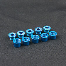 KCNC Al7075 M8.5 X 0.75 Road Bike Bicycle Double Chainring Bolts Screws - Blue