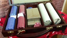 The Classic Collection Deluxe Set 200 Poker Chips & 2 Decks Playing Cards