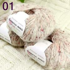 Sale 3BallsX50gr Luxury Fluffy Soft Mohair Wool Wrap Hand Knit Crochet Yarn 01