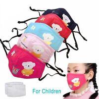 1 Masque de protection enfant tissu coton lavable + 4 filtres PM 2.5