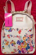 BETSEY JOHNSON BACKPACK BONE BLUSH PINK FLORAL   Bag Handbag FLOWERS New