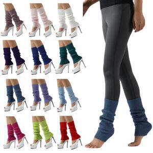 Ladies Girls High Elastic Yoga Sports Leg Sleeve Socks Knitted Warm Leg Warmers