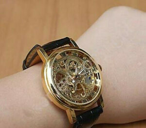Mens Wrist Watch Luxury Skeleton Vintage Men's Wristwatch Brand Mechanical