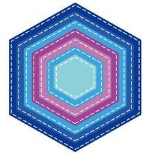 7X Stencils DIY Cutting Dies Scrapbooking Tagebuch Stanzschablone Papier Hexagon