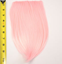 10'' Long Clip on Bangs Cotton Candy Pink Cosplay Wig Hair Extension NEW