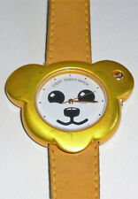 Steiff Teddy Watch purchased in the 1980s, yellow suede band, stamped front/back