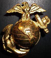 Rare! Original WW2 HUGE USMC Gilt Brass Visor Cap EGA Insignia Hat Badge helmet