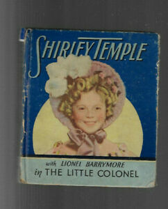 VINTAGE BIG LITTLE BOOK SHIRLEY TEMPLE The Little Colonel 1922  Saalfield Co