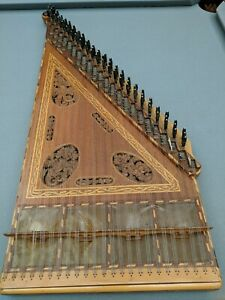 Traditional Turkish Kanun Qanun String Instrument With Bag And Accessories
