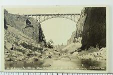 C. 1920's-30's RPPC Crooked River Bridge, Dalles California Highway Postcard P33