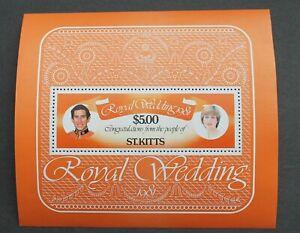 St Kitts – 1981 Royal Wedding – Miniature Sheet – MS81 – UM (R7)
