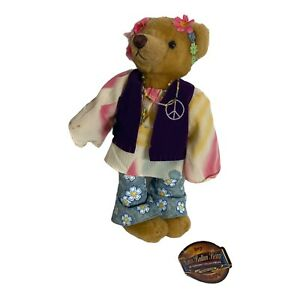 """Hippy """"Ivy"""" Peace Pickford Bears 20th Century Brass Button 1960's  1999"""