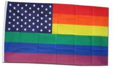 Rainbow / Usa - 3' x 5' foot polyester flag with 50 Stars
