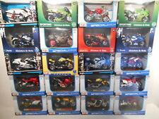 Moto BMW, Ducati, Honda,Yamaha, Maisto Burago 1/18  au Choix Assorted