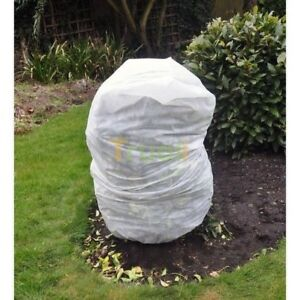 2 x Frost Protection Winter Fleece Jacket Cover Protect Plant Shrub 80cm x 60cm