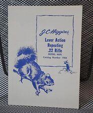 Original JC Higgins Model 46DL .22 Lever Action Rifle Owner's Manual   103.19840