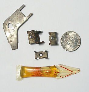 6pc Vintage Aurora AFX G+ Slot Car Special RACING OIL TRACK REPAIR CLIPS +TOOL