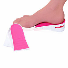 Shoe Lift Height Increase Heel Lifts Insoles Air Bubble Cushion Pink and White
