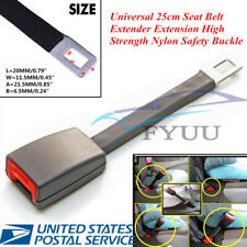 Metal+ABS 25cm Grey Universal Seat Seatbelt Extender Extension Buckle