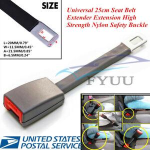 Metal+ABS 25cm Grey Universal Seat Seatbelt Extender Extension Buckle