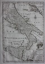 Original antique map ITALY, SICILY, 'KINGDOMS OF NAPLES & SICILY', E Bowen, 1747