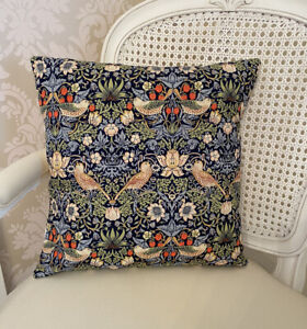 """Handmade Envelope Cushion Cover In William Morris The Strawberry Thief 16X16"""""""