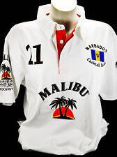 Malibu Rum, Polo Shirt Weiss Men Gr.XL, alles sehr edel gestickt, 100% Cotton