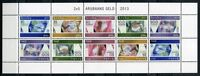 Aruba 2013 Banknoten Geldscheine Paper Money Papiergeld 725-729 Kleinbogen MNH