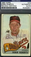 Robin Roberts Vintage Signed 1965 Topps Psa/dna Certed Autograph Authentic
