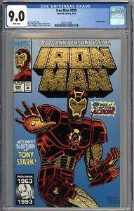 Iron Man #290 CGC 9.0 VF/NM WHITE PAGES