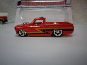 Hot Wheels Red 72 Chevy Luv Pickup Truck with Stripes Custom Real Riders