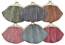 NEW WOMEN'S WATERPROOF EEL SKIN SMALL COIN CHANGE PURSE WALLET
