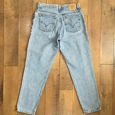 LEVI'S Vintage High Waist Jeans 550 Relaxed Fit Tapered Leg Women's Size 14 M