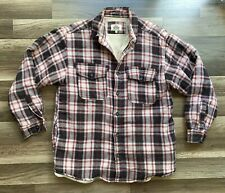Levis Sherpa Lined Flannel Shirt Jacket Mens Large Plaid