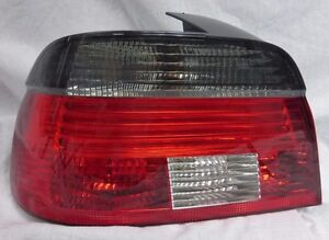 BMW 5 Series Sedan E39 1997-2003 Smoked & Red Left Taillight Hella OEM LED
