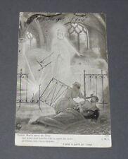 CPA CARTE POSTALE GUERRE 14-18 PATRIOTIQUE 1915 VIERGE MARIE BLESSE INFIRMIERE