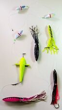 Fishing Daisy Chain with Bird Teaser, Rattle Floats and Giant Squid Skirts