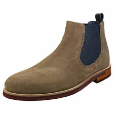 Ted Baker Secaint Mens Grey Navy Suede & Leather Chelsea Boots
