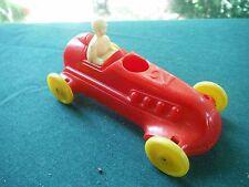 "Tydol Ethyl vintage plastic toy balloon car 1950s Beverly 3.5"" true wheels RED"