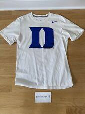 Duke Blue Devils Nike T-Shirt Men's Small White Black Basketball Adult Elite
