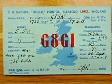 More details for 1938 qsl card c.b.raithby hollis pointon sleaford lincs england