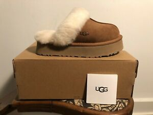 UGG Disquette Chestnut Suede Clog Style 1122550 Women's US Sizes 5-11 NEW!!!