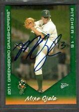 2011 Multi-Ad Greensboro Grasshoppers #10 Mike Ojala Card Signed Autograph