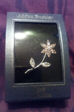 Flower brooch/Pin Christmas Gift New Adrian Buckley Crystal