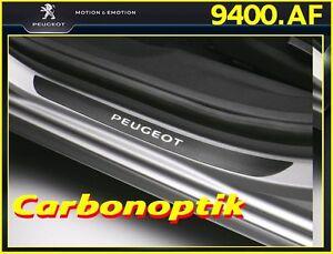 Original PEUGEOT 508, 508 SW Einstiegsleisten Set 4 teilig in Carbonoptik 9400AF