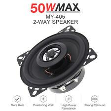 Universal 4 Inch 10mm 50W 2-Way Car Door Audio HiFi Coaxial Speaker Tweeter Horn