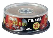 Maxell CD-R 80 Min XL-II Digital Audio Bespielbar Leere Disc - 25 Pack Spindel
