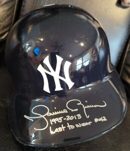 Mariano Rivera Autographed Inscribed NYY Batting Helmet Triple Authenticated