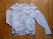 Haut chemisier fille en coton blanc IKKS - taille 8 ans